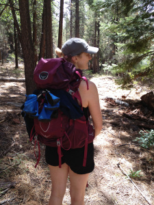Me and my awesome new Osprey backpack.